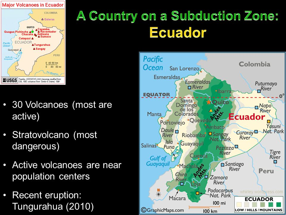 A Country on a Subduction Zone: Ecuador