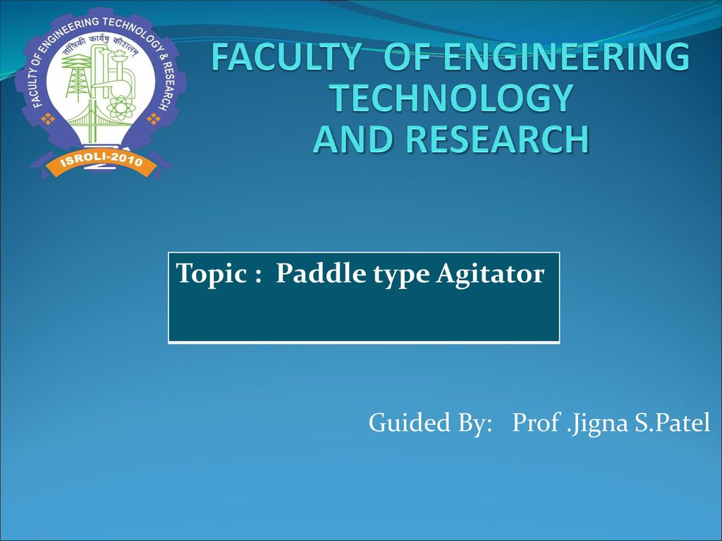 FACULTY OF ENGINEERING TECHNOLOGY AND RESEARCH - ppt download