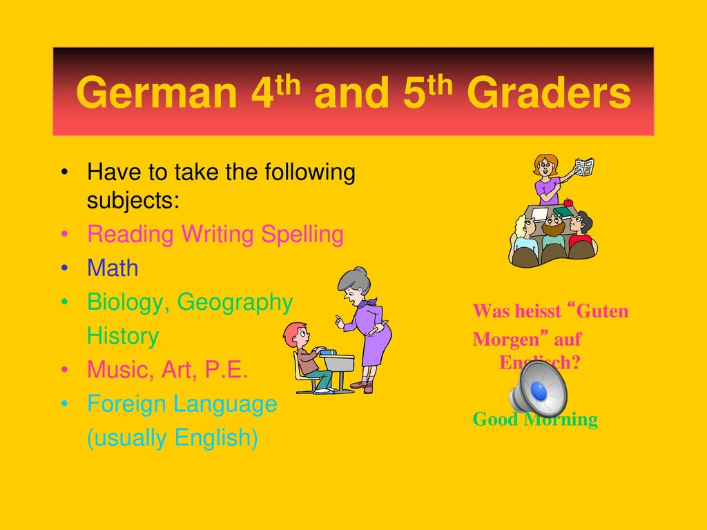 German 4th And 5th Graders Ppt Download