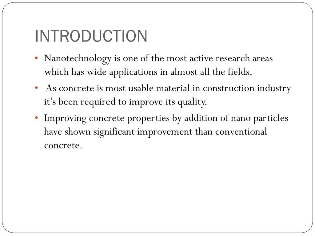 Seminar On NANO CONCRETE - ppt download