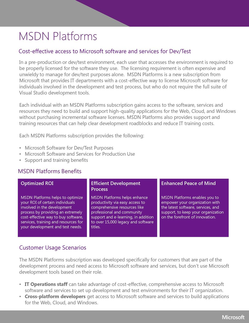 msdn windows license usage