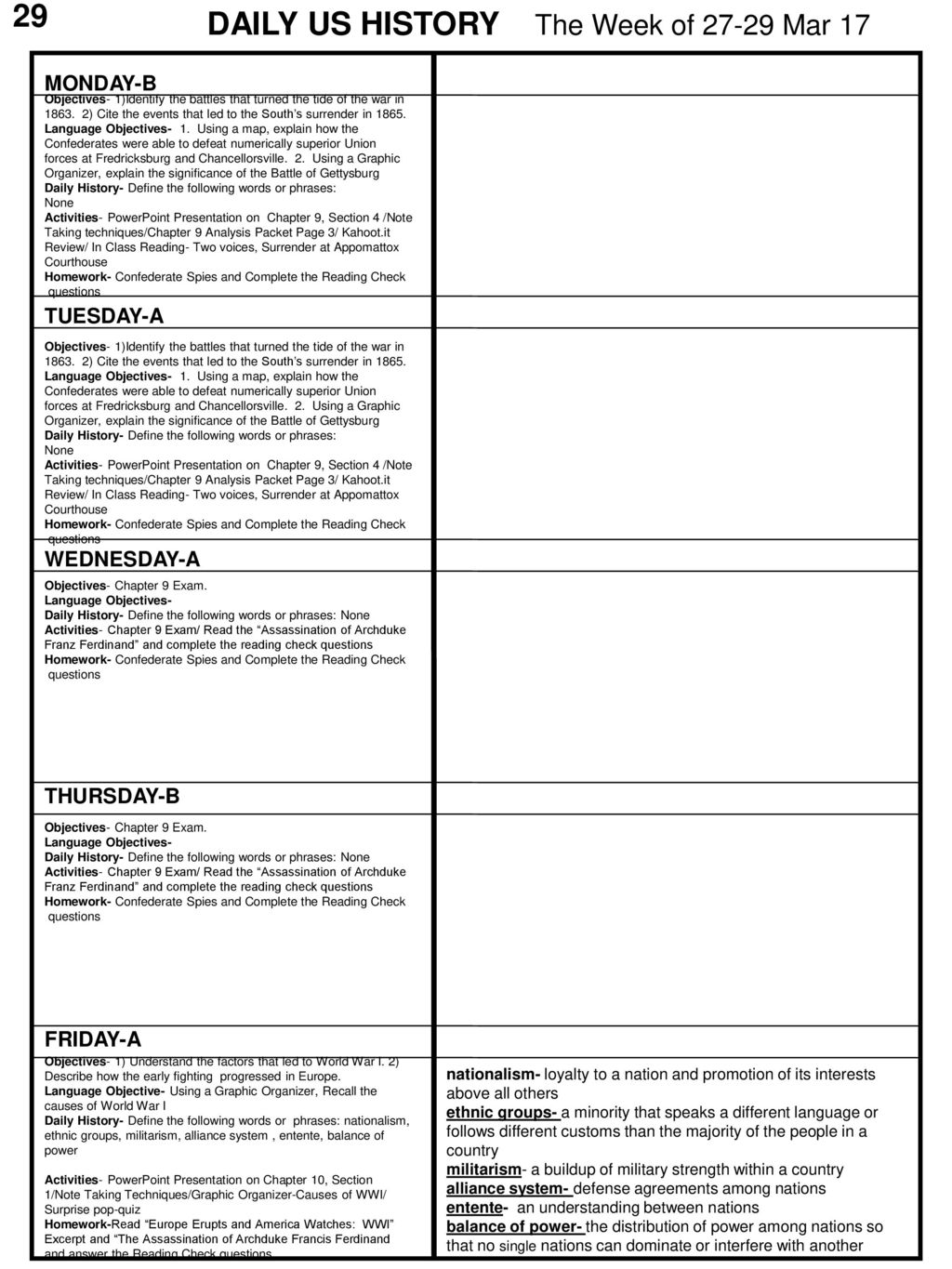 DAILY US HISTORY The Week of Mar ppt download