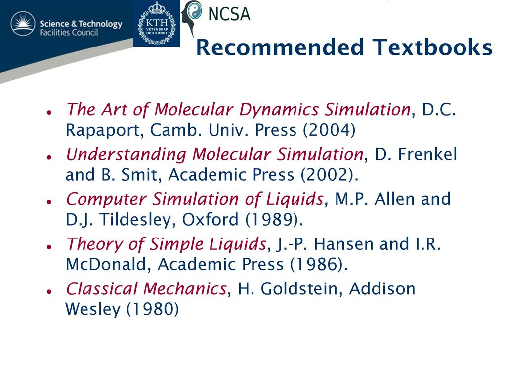 Introduction to Molecular Dynamics - ppt download