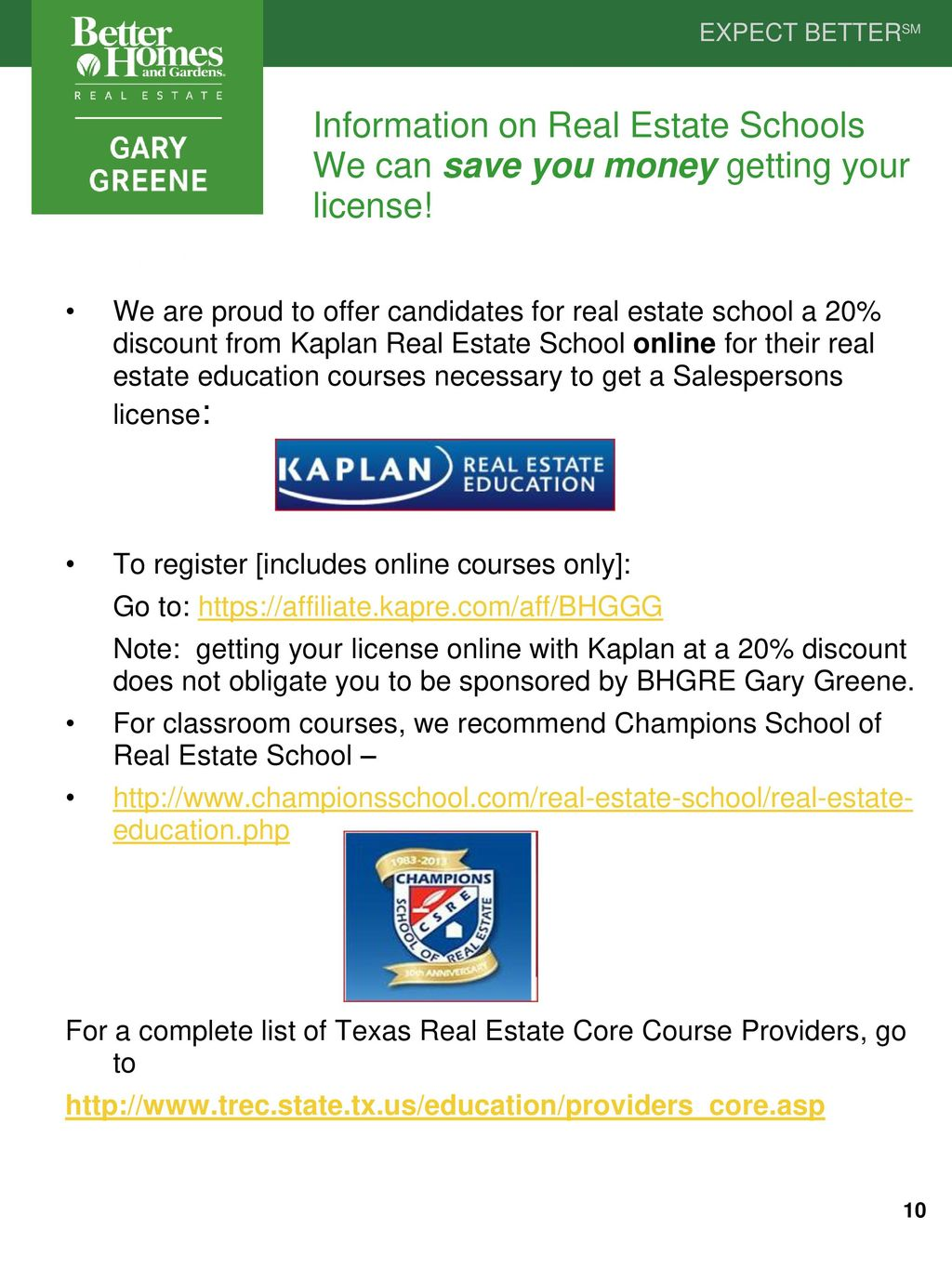 Information On Real Estate Schools We Can Save You Money Getting Your  License!