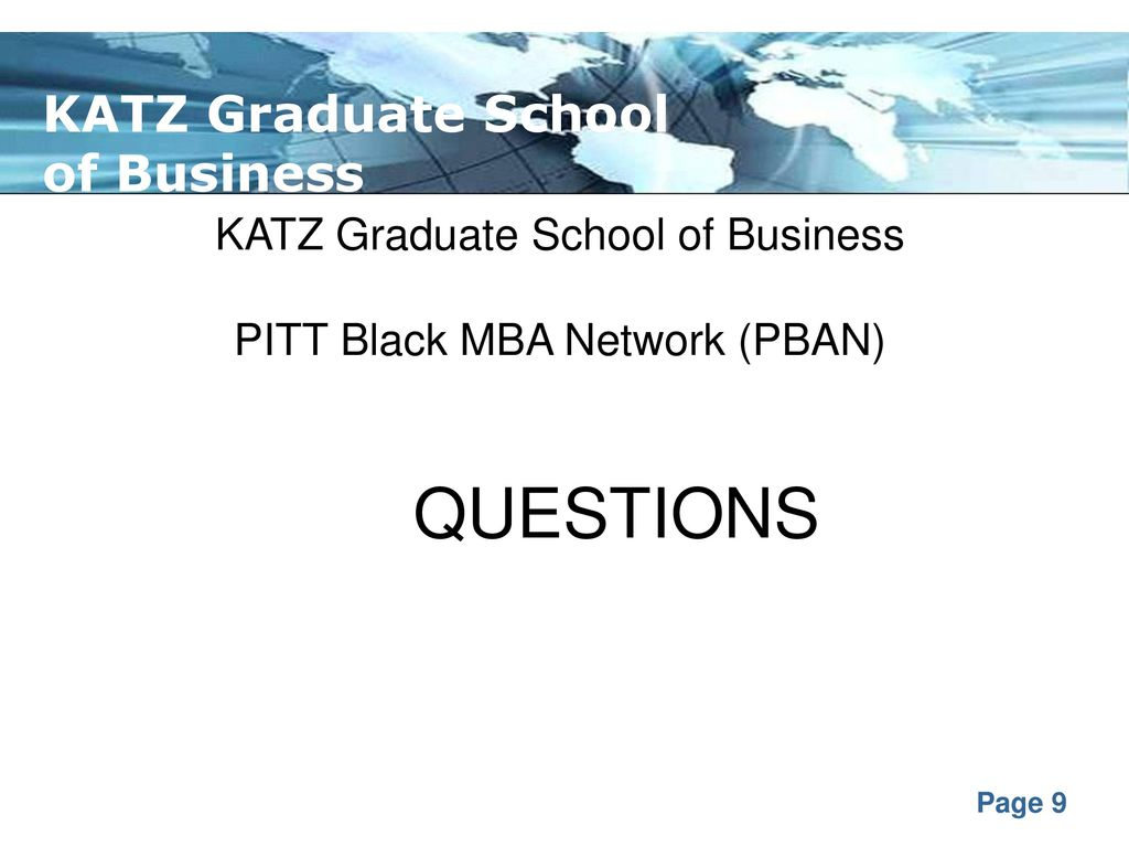 Pitt Black Mba Network By Kevin Cameron And Dr Pauline Long Ppt