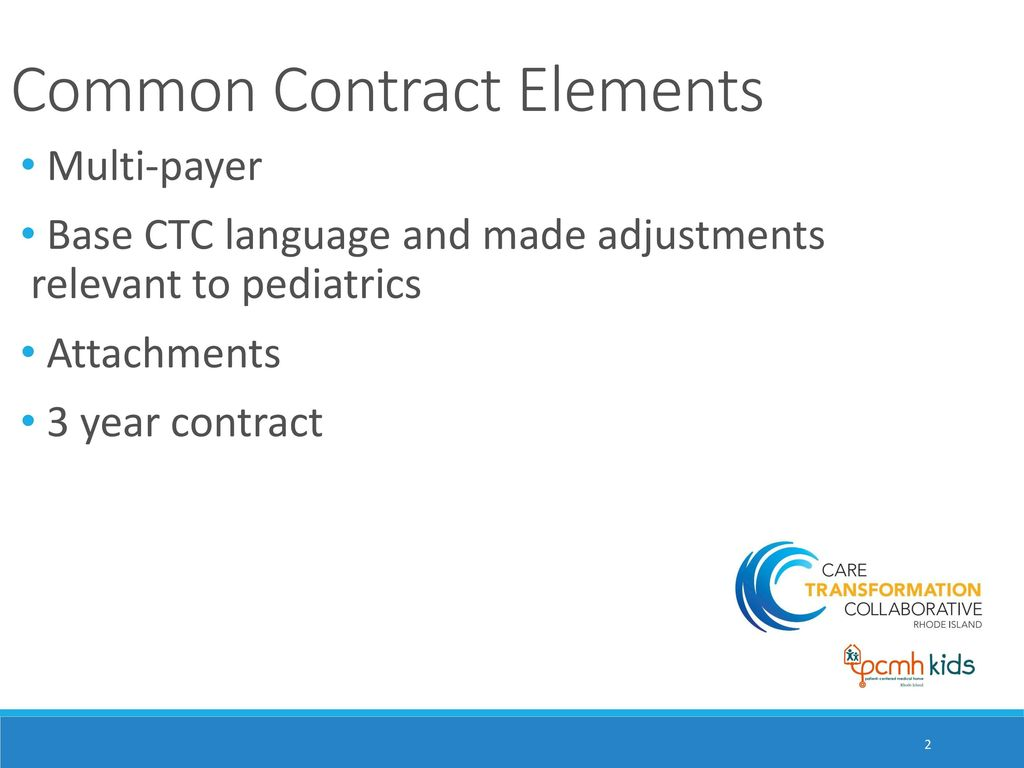 Ctc Agreement For Pcmh Kids Care Transformation Collaborative Of