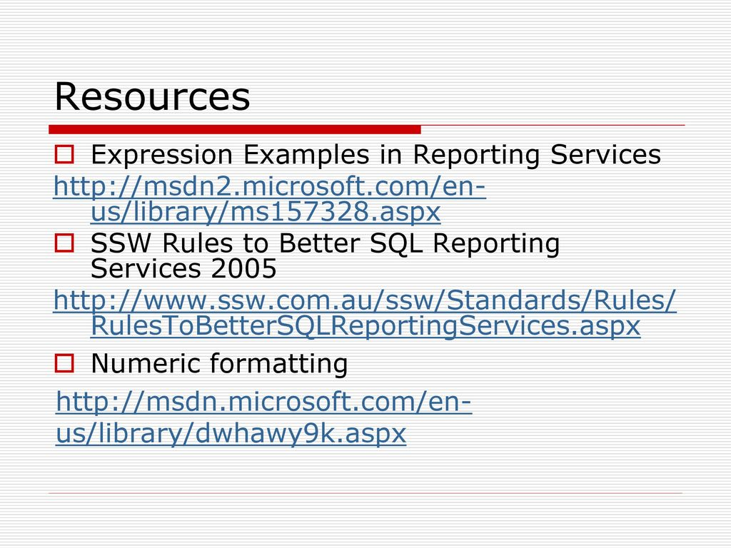 Tips and Tricks for Reporting Services - ppt download