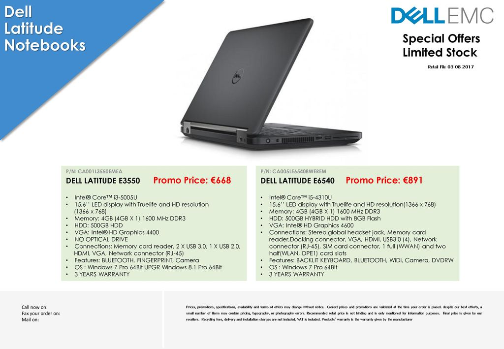Dell Latitude Notebooks Special Offers Limited Stock - ppt