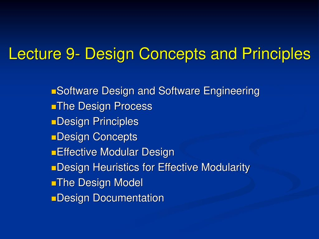 Lecture 9 Design Concepts And Principles Ppt Download