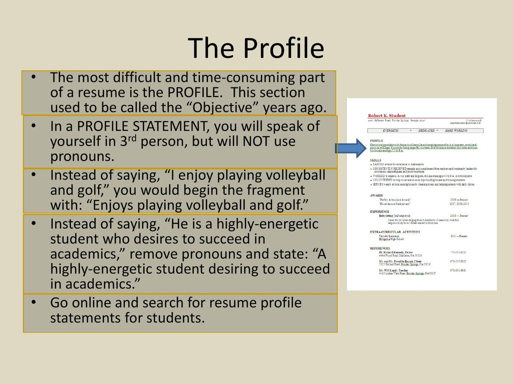The Senior Project Resume Ppt Download