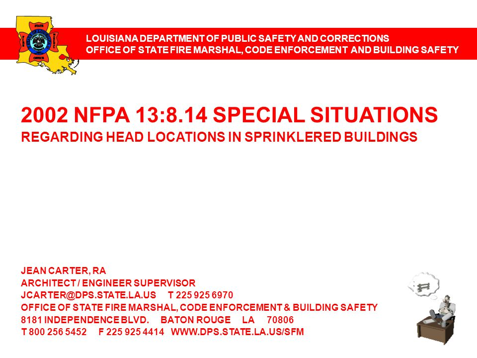 2002 NFPA 13:8.14 SPECIAL SITUATIONS