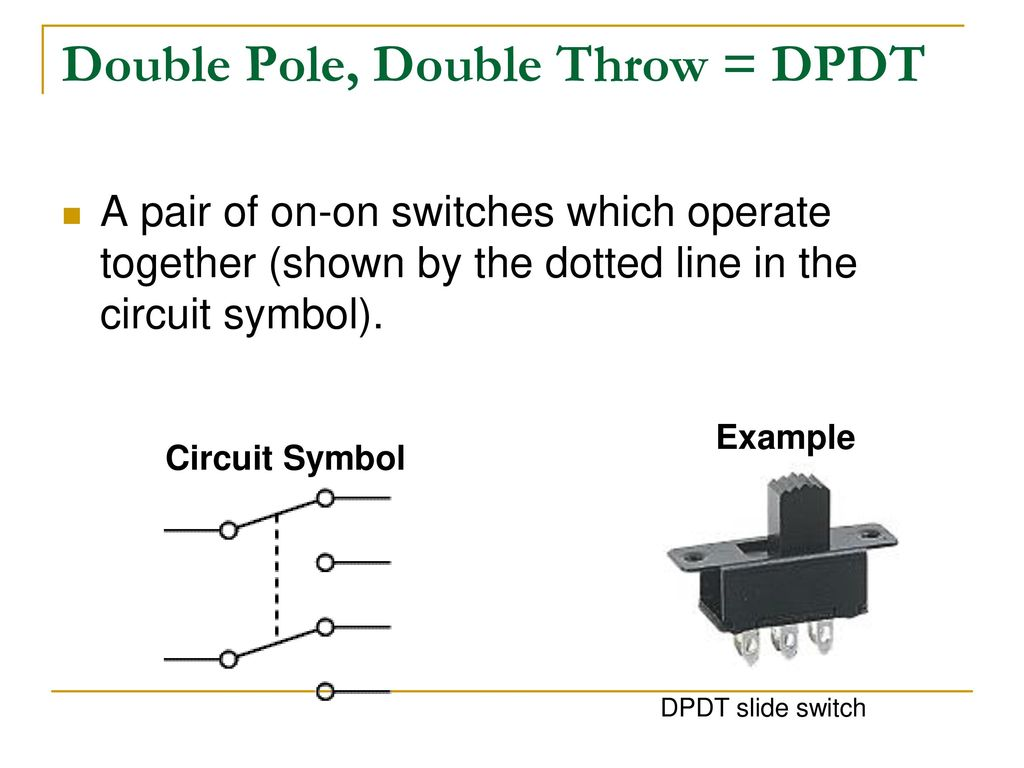 With Dpdt Switch Wiring Diagram Also Double Pole Double Throw Switch