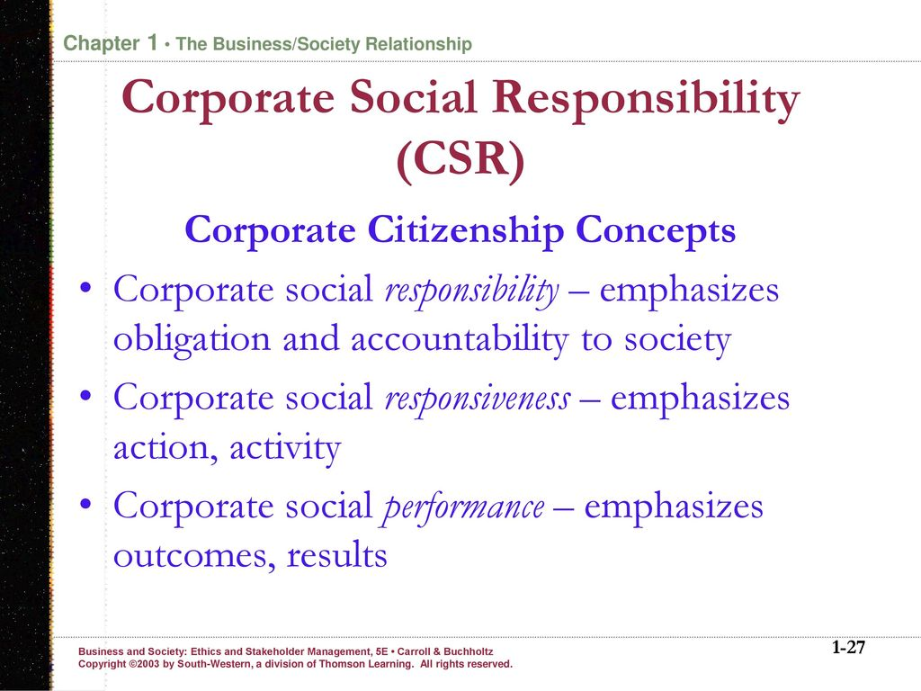The Business/Society Relationship - ppt download