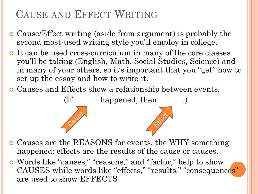 cause and effect math