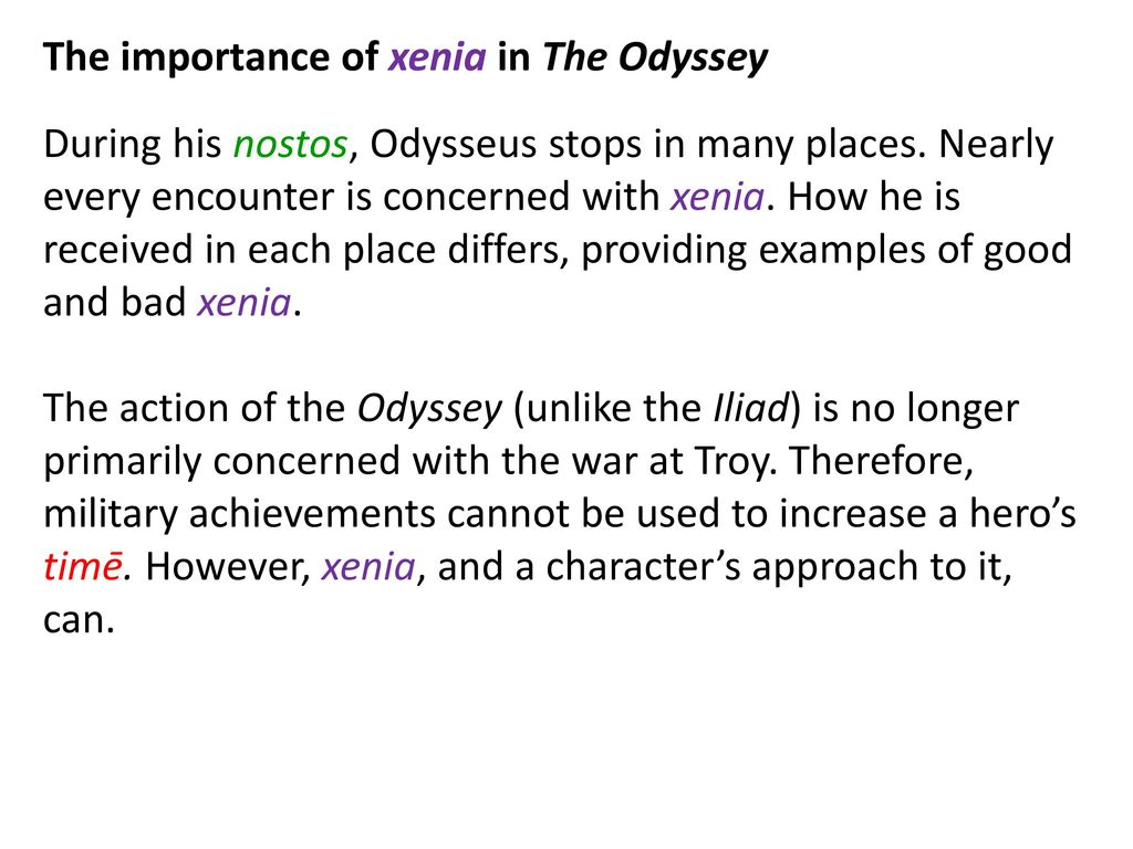 bad xenia in the odyssey