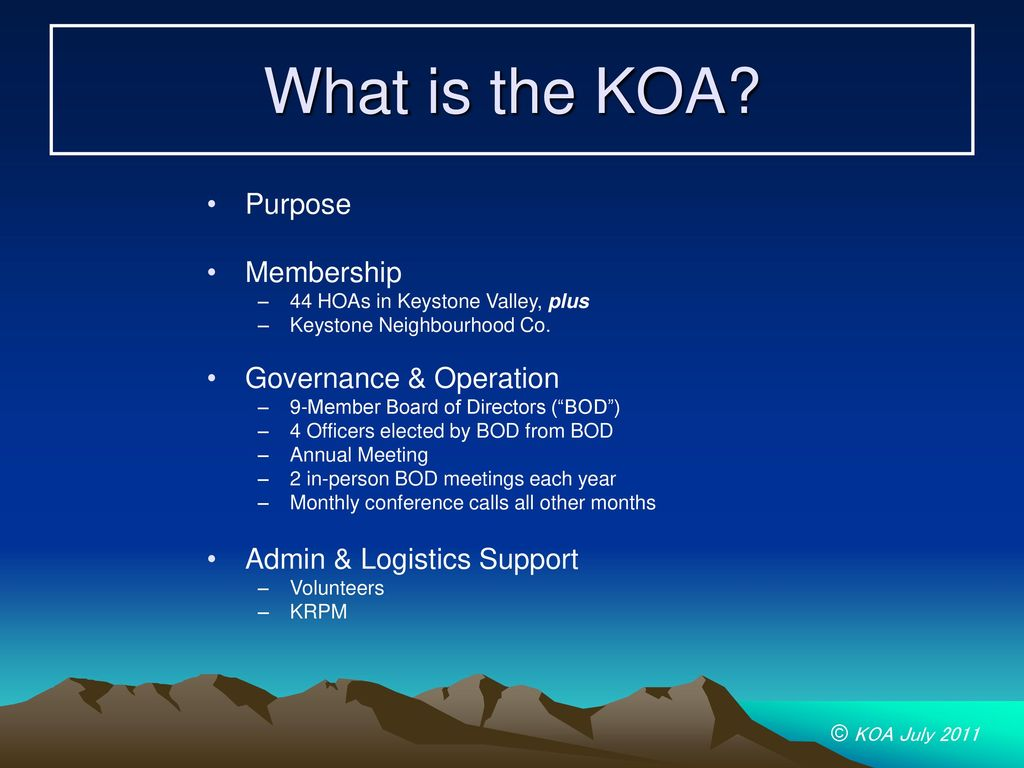 Keystone Owners Association - ppt download