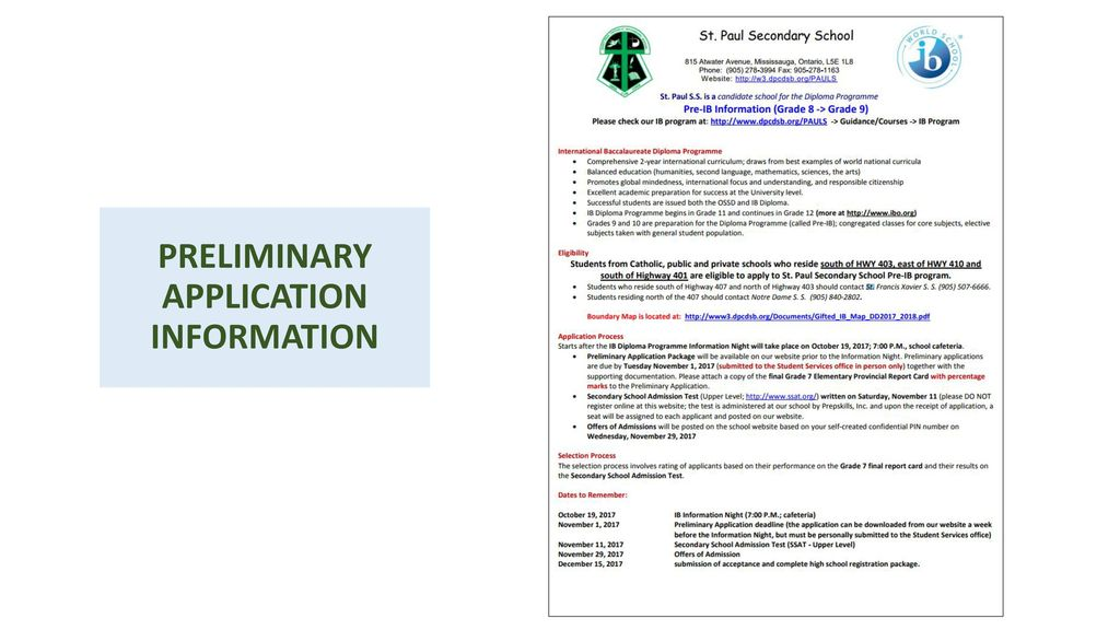 THE IB DIPLOMA PROGRAMME AT St  PAUL - ppt download