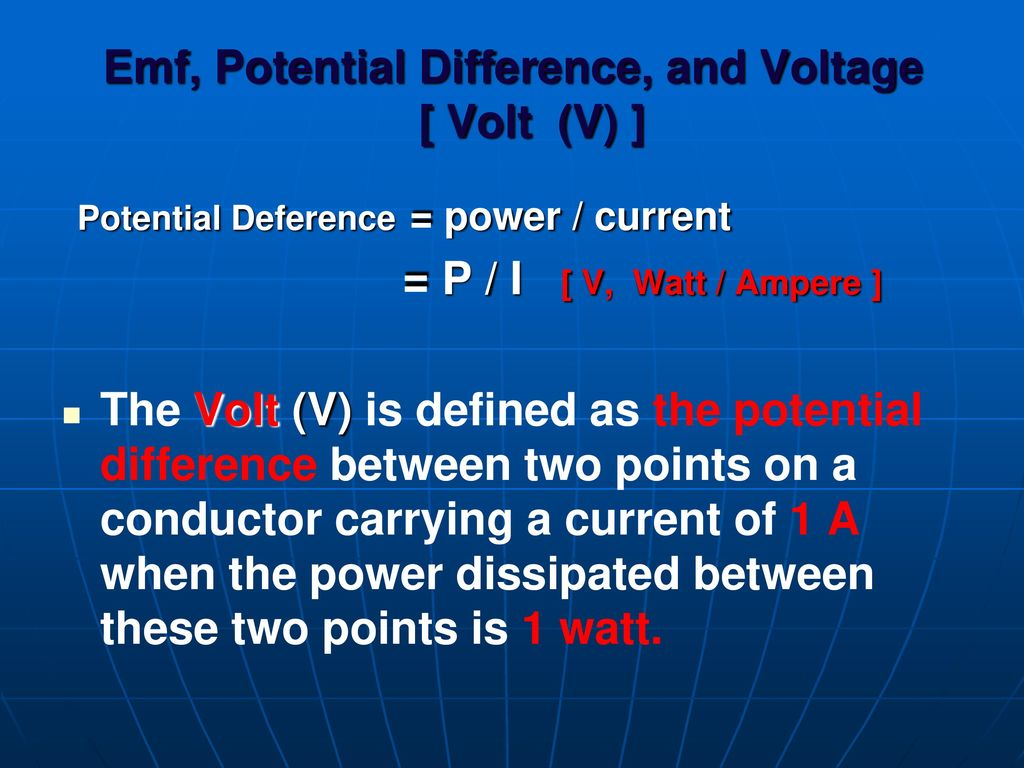Electrical And Electronic Measurements Ppt Download Is Electricity Definitions Definition Of Amps 7 Emf