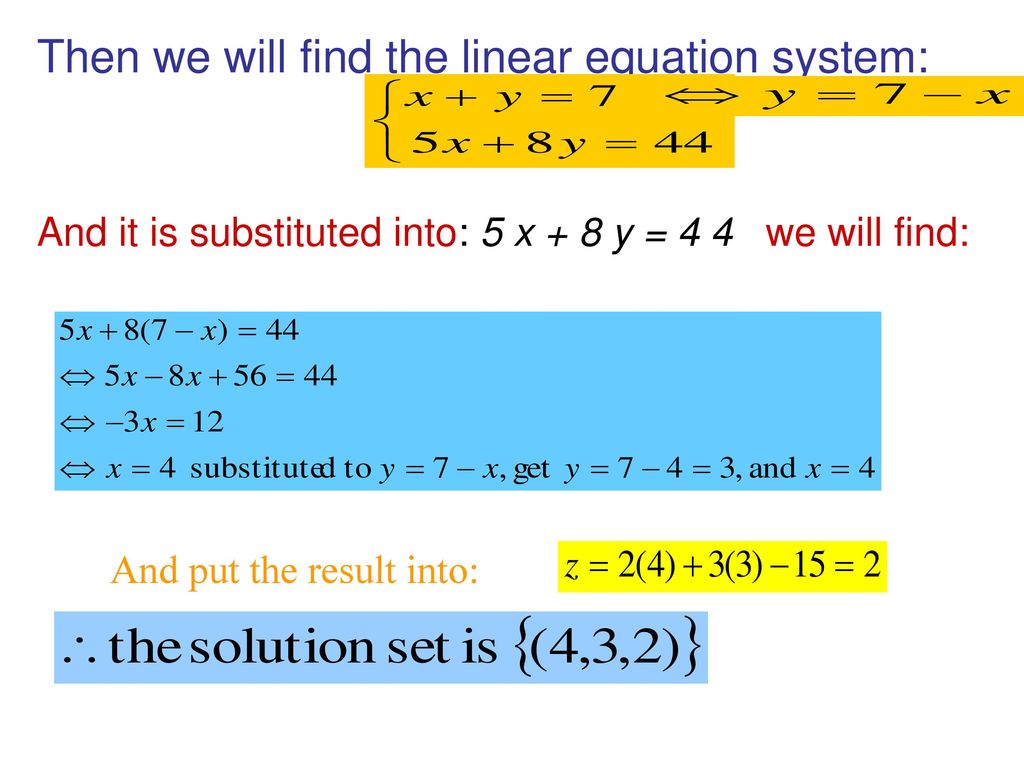 LINEAR AND QUADRATIC EQUATION SYSTEMS - ppt download