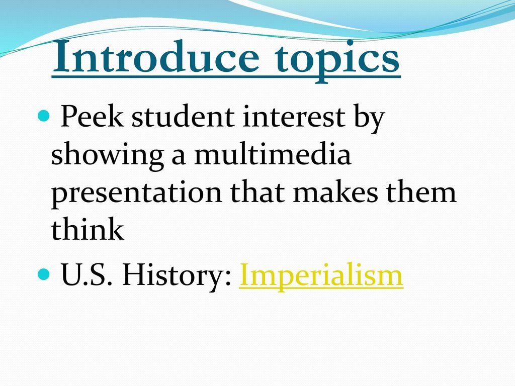 history presentation topics