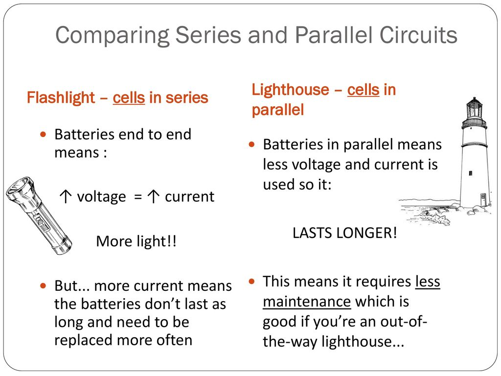Series And Parallel Circuits Ppt Download Battery Circuit Comparing
