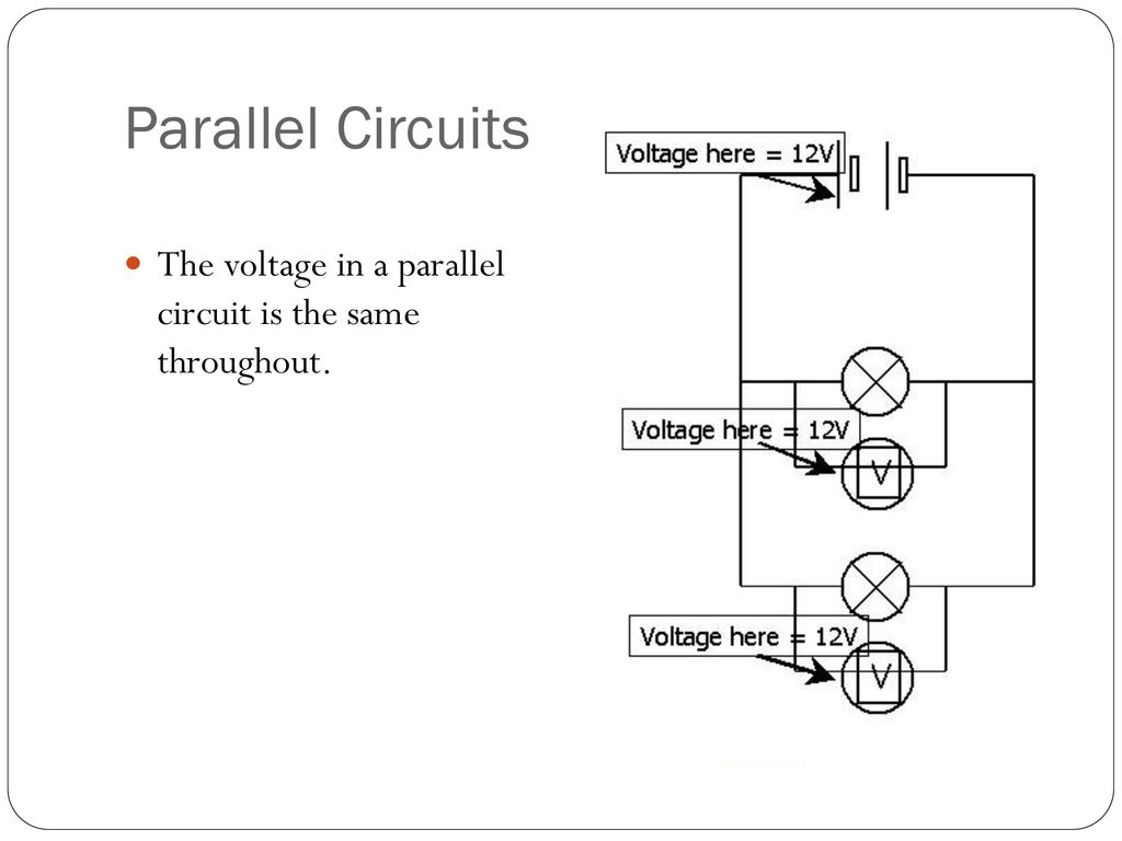 Series And Parallel Circuits Ppt Download Circuit Picture 8 The Voltage In A Is Same Throughout