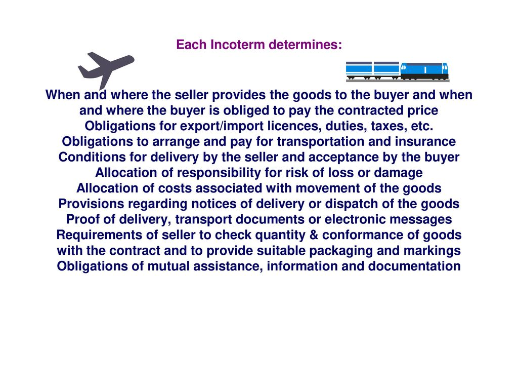 Transfer of ownership of the goods to the buyer