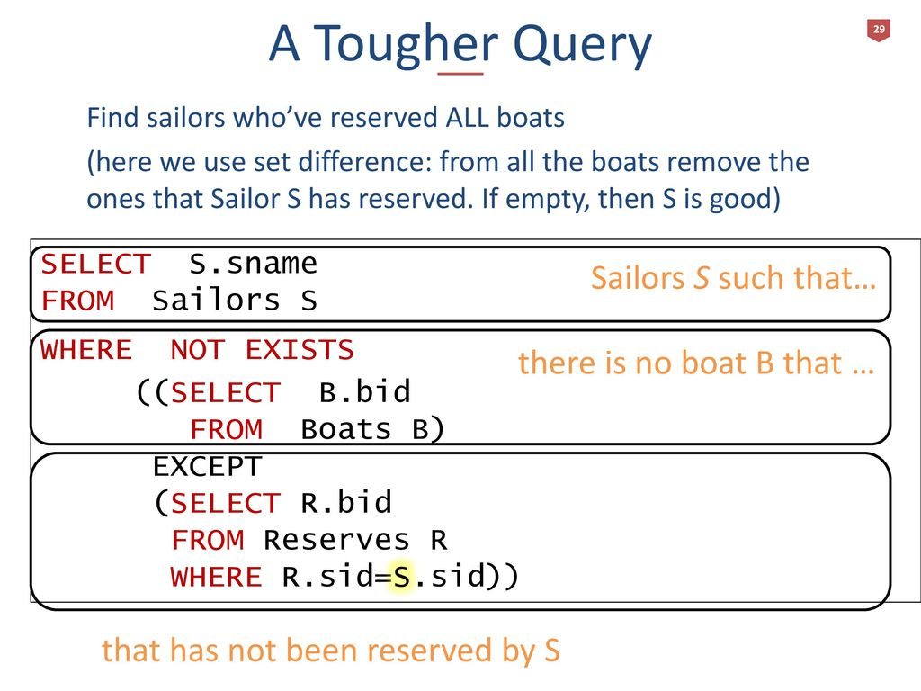 SQL The Query Language R & G - Chapter 5 - ppt download