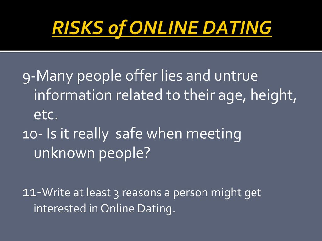 online dating lying about age
