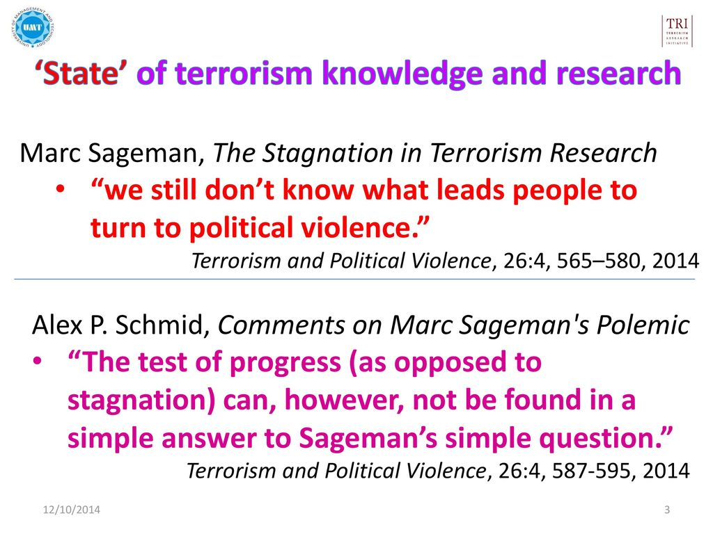 state of terrorism knowledge and research in pakistan ppt download