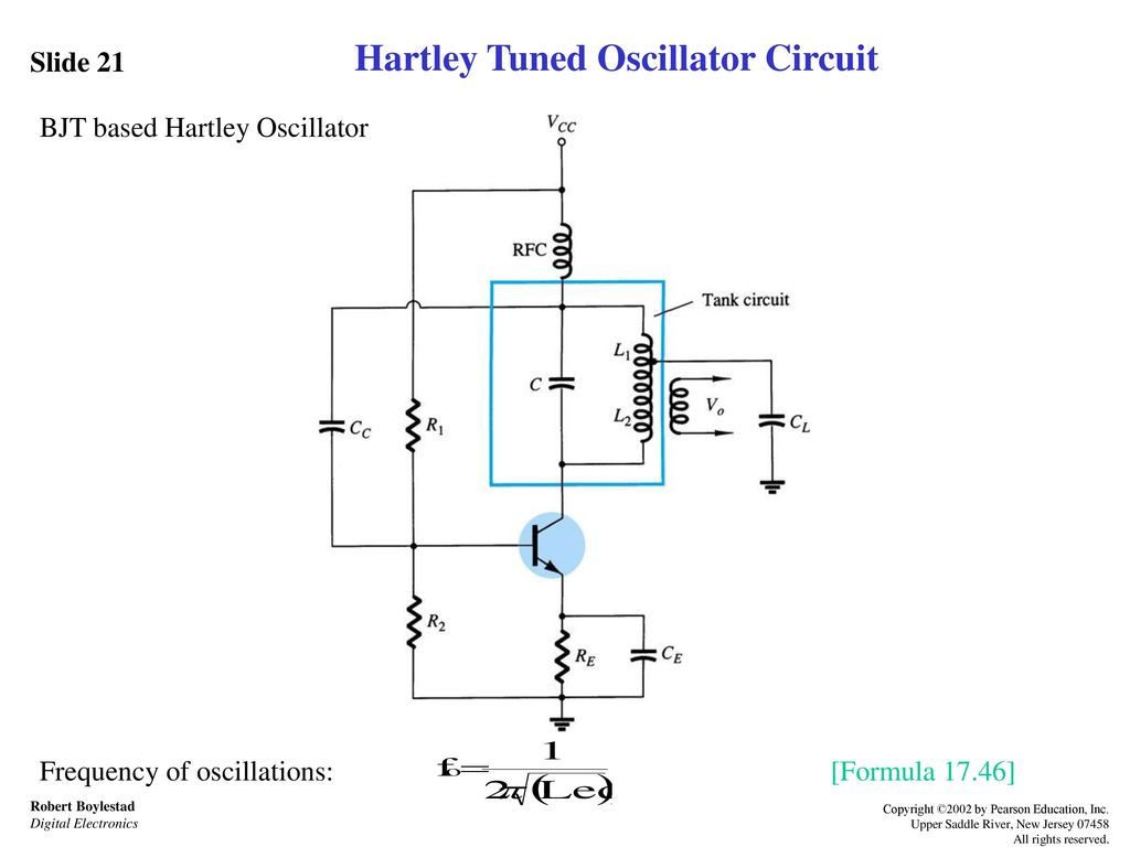 Feedback And Oscillator Circuits Ppt Download Element Crystal Circuit Colpitts Hartley Tuned