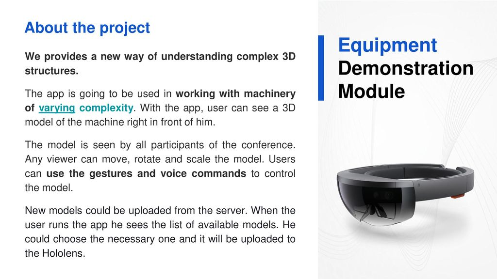 Equipment Demonstration in HoloLens - ppt download