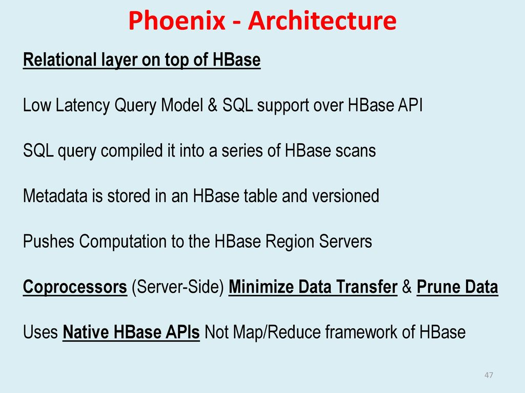 SQL on Big Data Technology, Architecture, Innovations - ppt