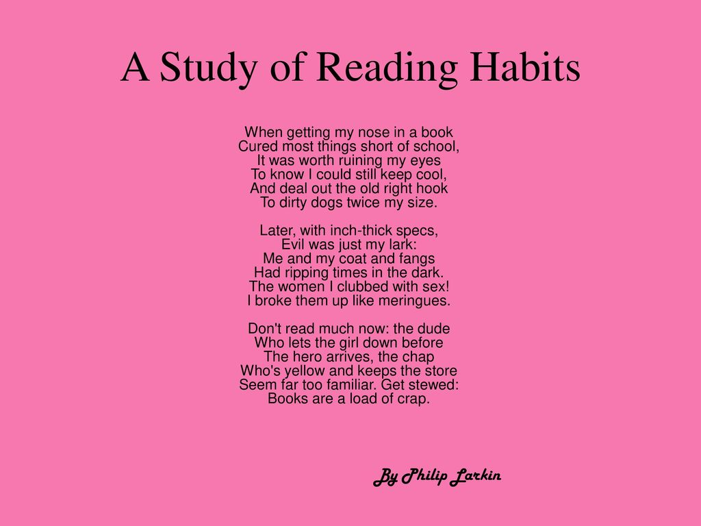 a study of reading habits