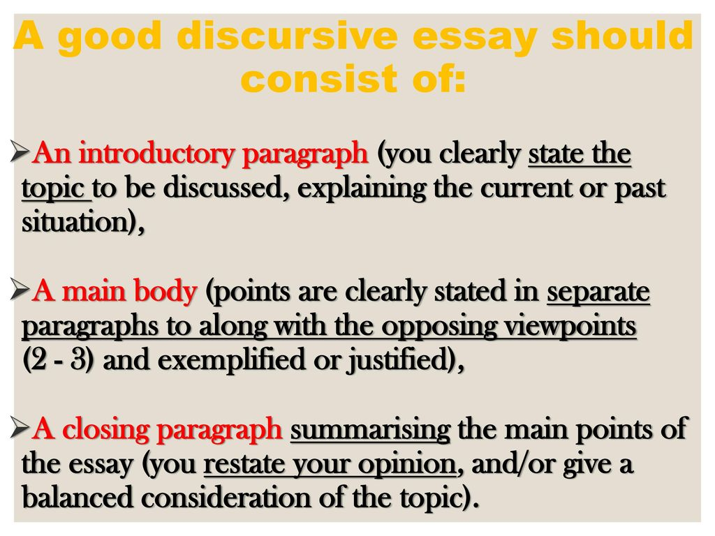 Discursive Essay  Ppt Download A Good Discursive Essay Should Consist Of No Plagiarised Assignments Done For Me also Essay About English Language  English As A World Language Essay