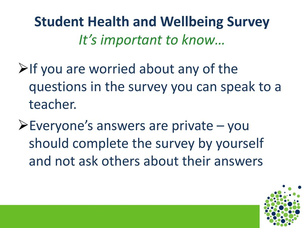 School Health Research Network Student Health and Wellbeing