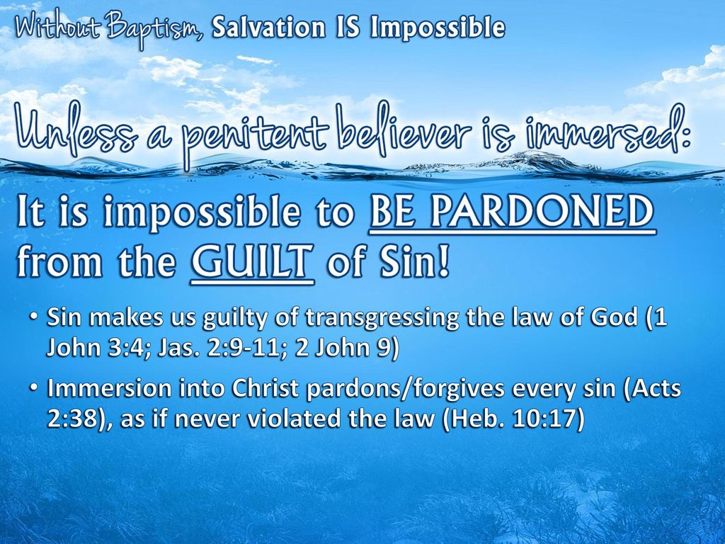 Sin Makes Us Guilty Of Transgressing The Law God 1 John 34