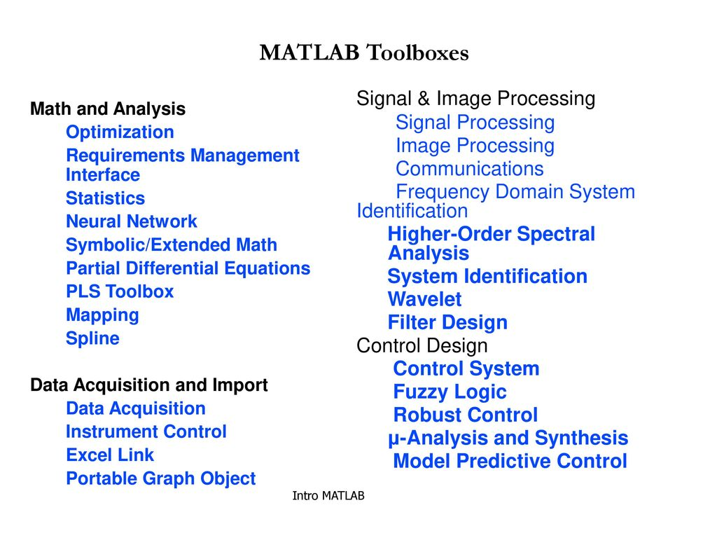 MATLAB Introduction Main Features Simple programming rules - ppt