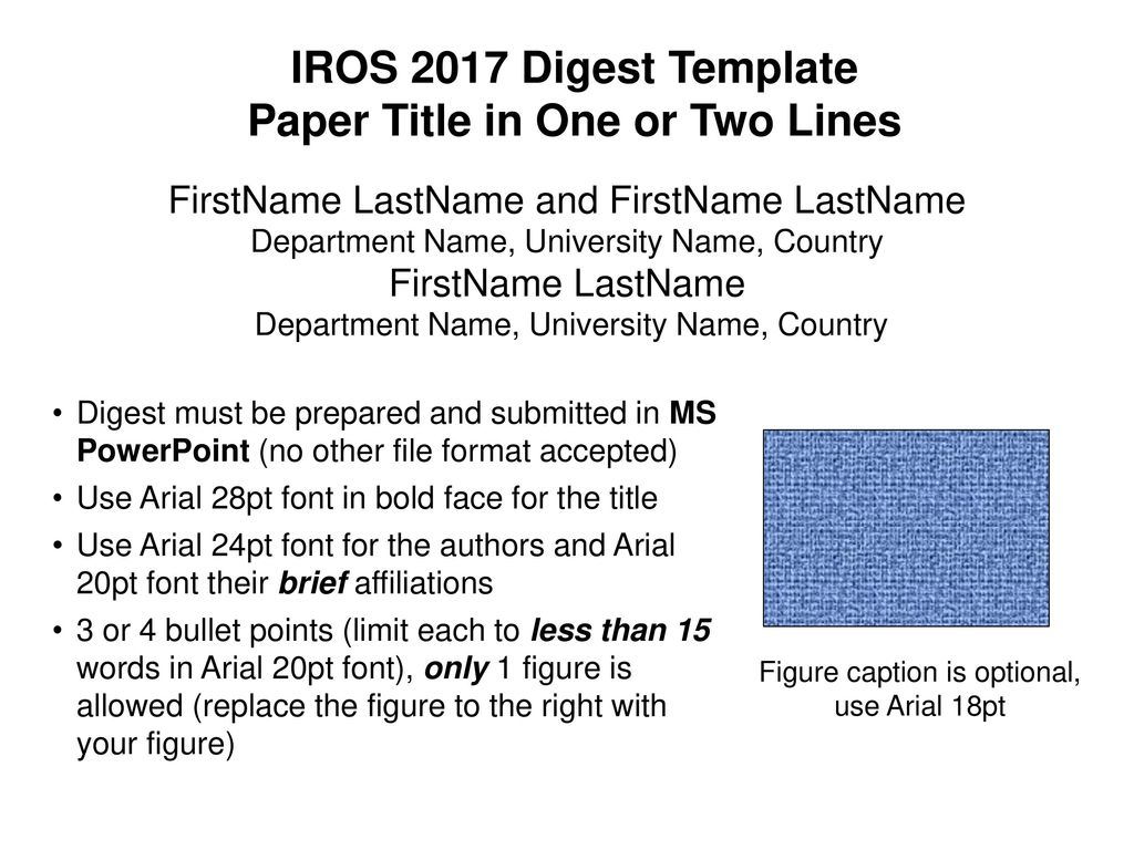 Paper Title in One or Two Lines - ppt download