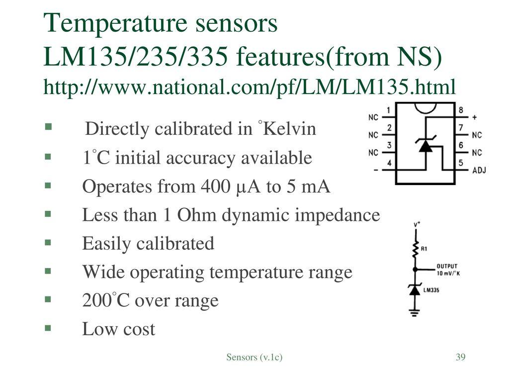 Sensors Sensing The Real World V1c Ppt Download Digital Temperature Meter Using Lm335 Or Lm135 39