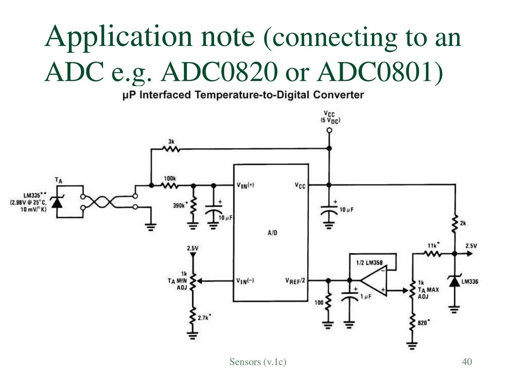 Sensors Sensing The Real World V1c Ppt Download Digital Temperature Meter Using Lm335 Or Lm135 40 Application