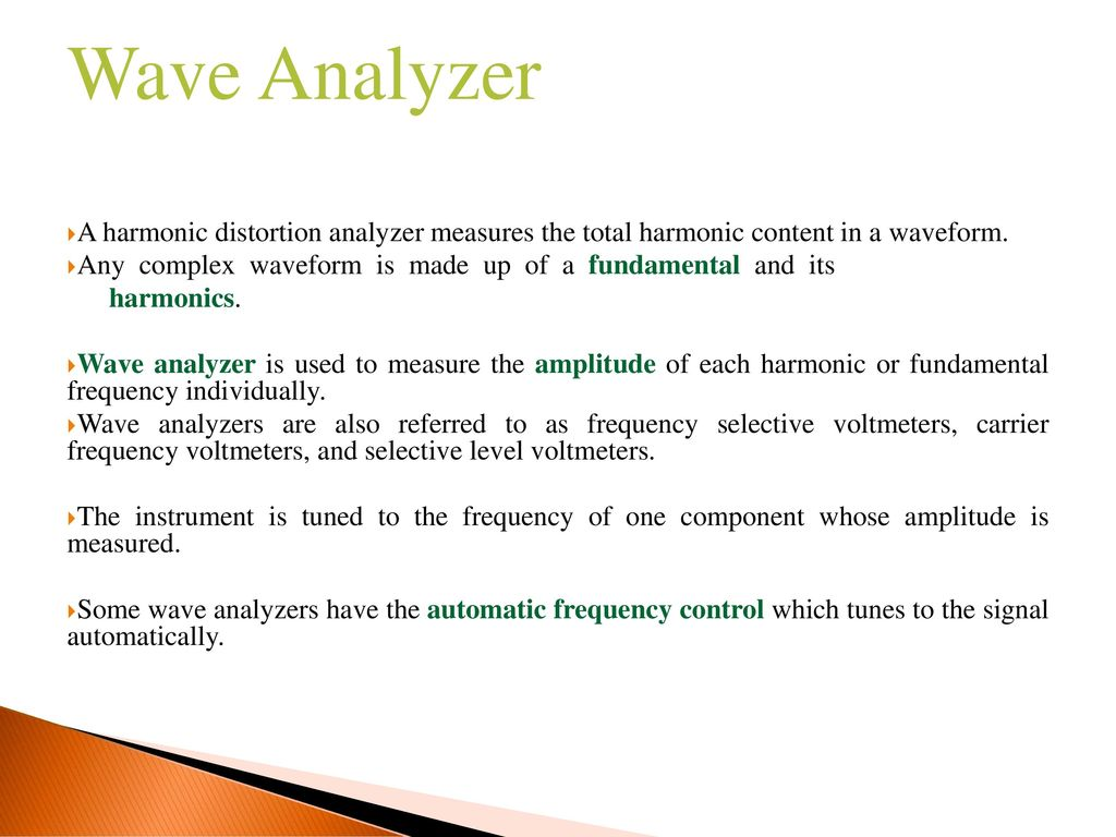 Harmonic Distortion Analyzer, Wave Analyzer and Function