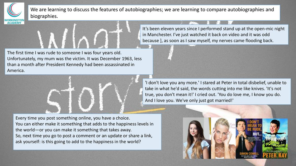 Autobiography BOTH Biography  Autobiography BOTH Biography  - ppt