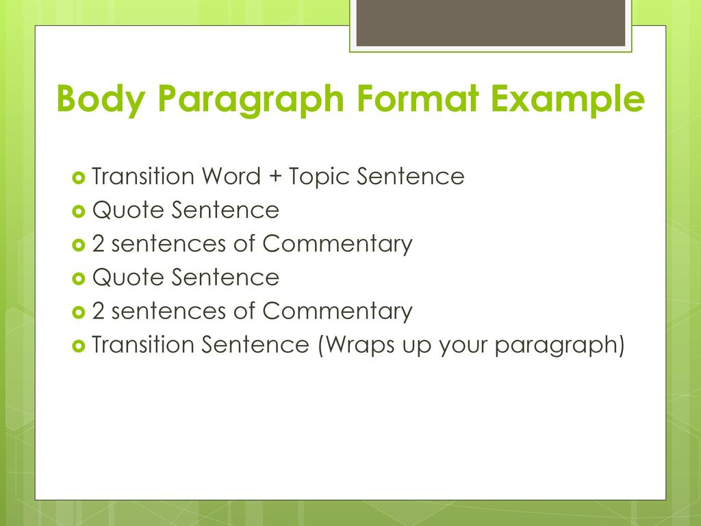 research paper body paragraph english 10 | fall ppt download