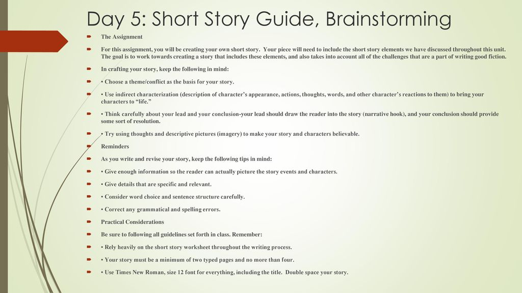 Short Story Lesson Ppt Download