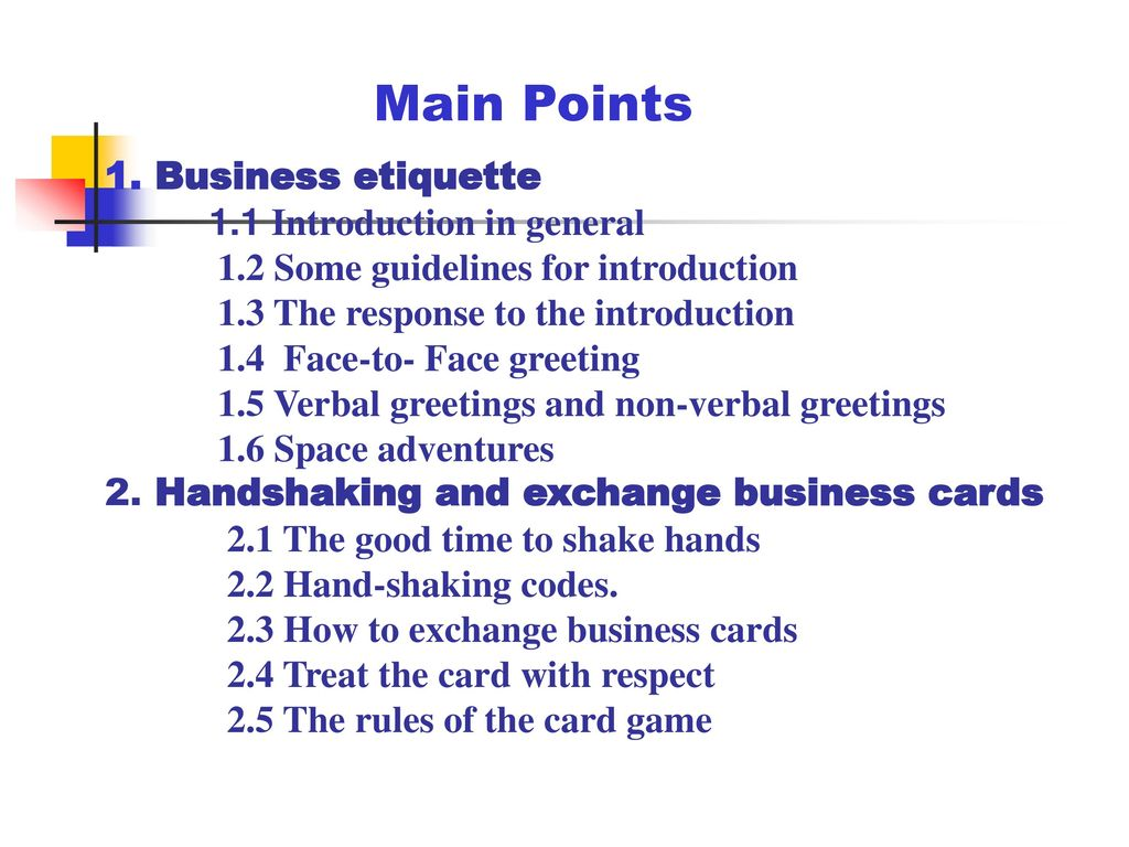 Chapter 9 Business Etiquette And Social Customs Ppt Download