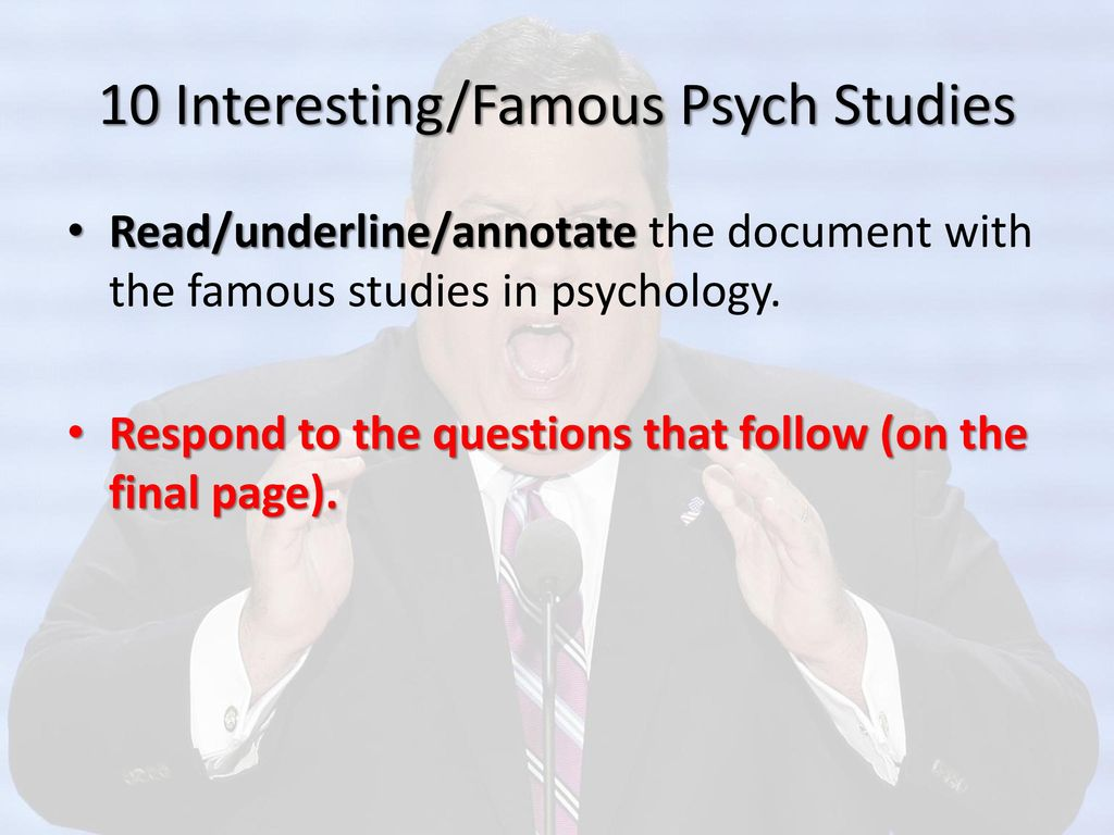 Ch  1: Introduction to Psychology - ppt download