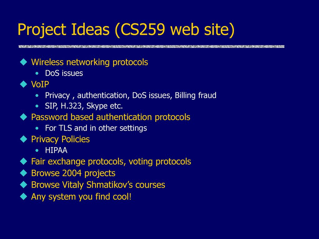 Security Analysis of Network Protocols - ppt download