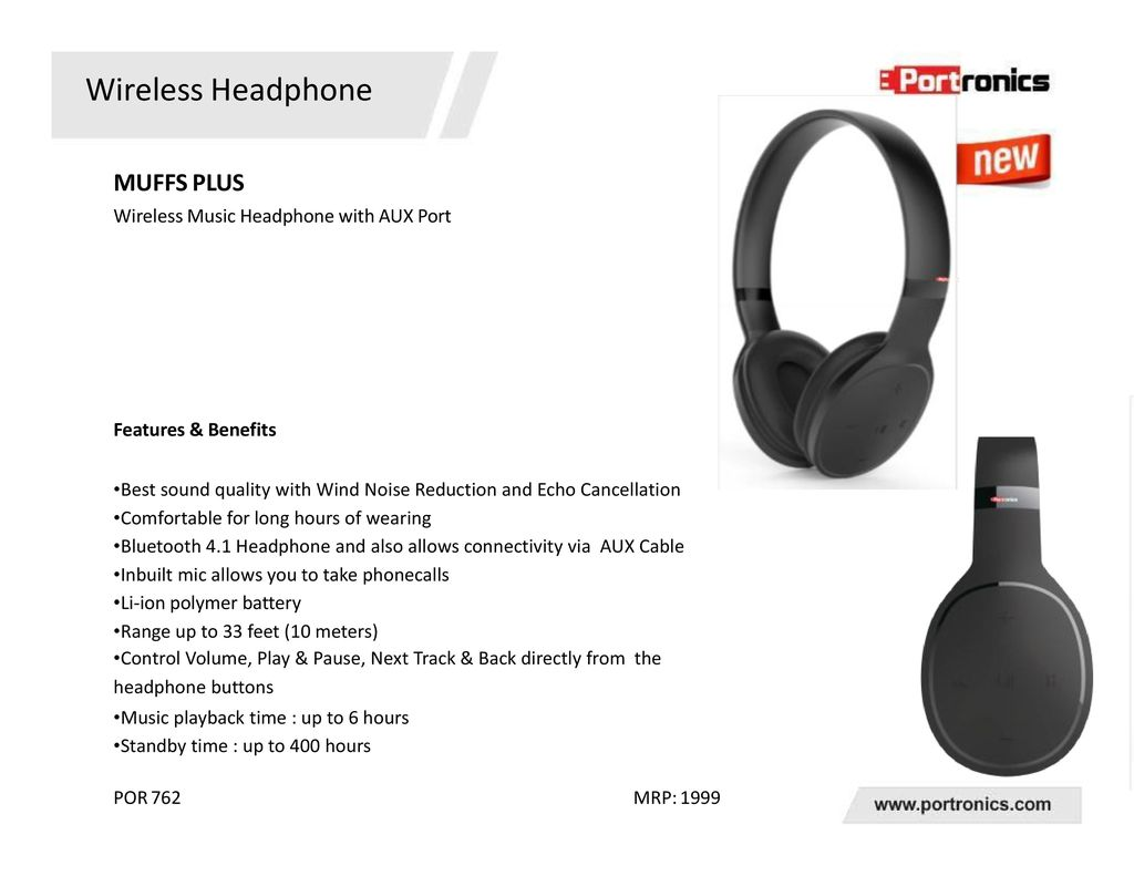 bfce4122b97 29 Wireless Headphone MUFFS PLUS Wireless Music Headphone with AUX Port