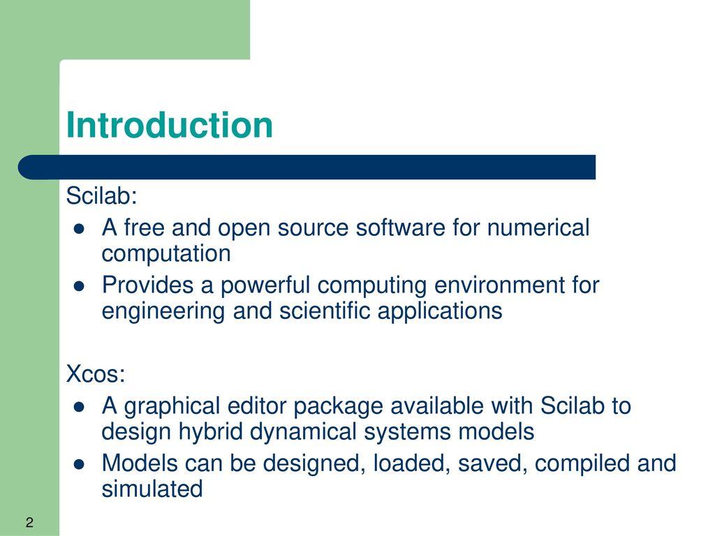 Xcos Scilab
